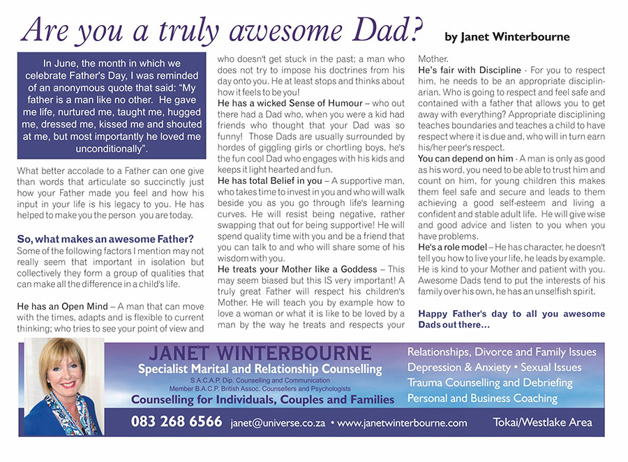 Are you a truly awesome Dad? | Psychologist Cape Town