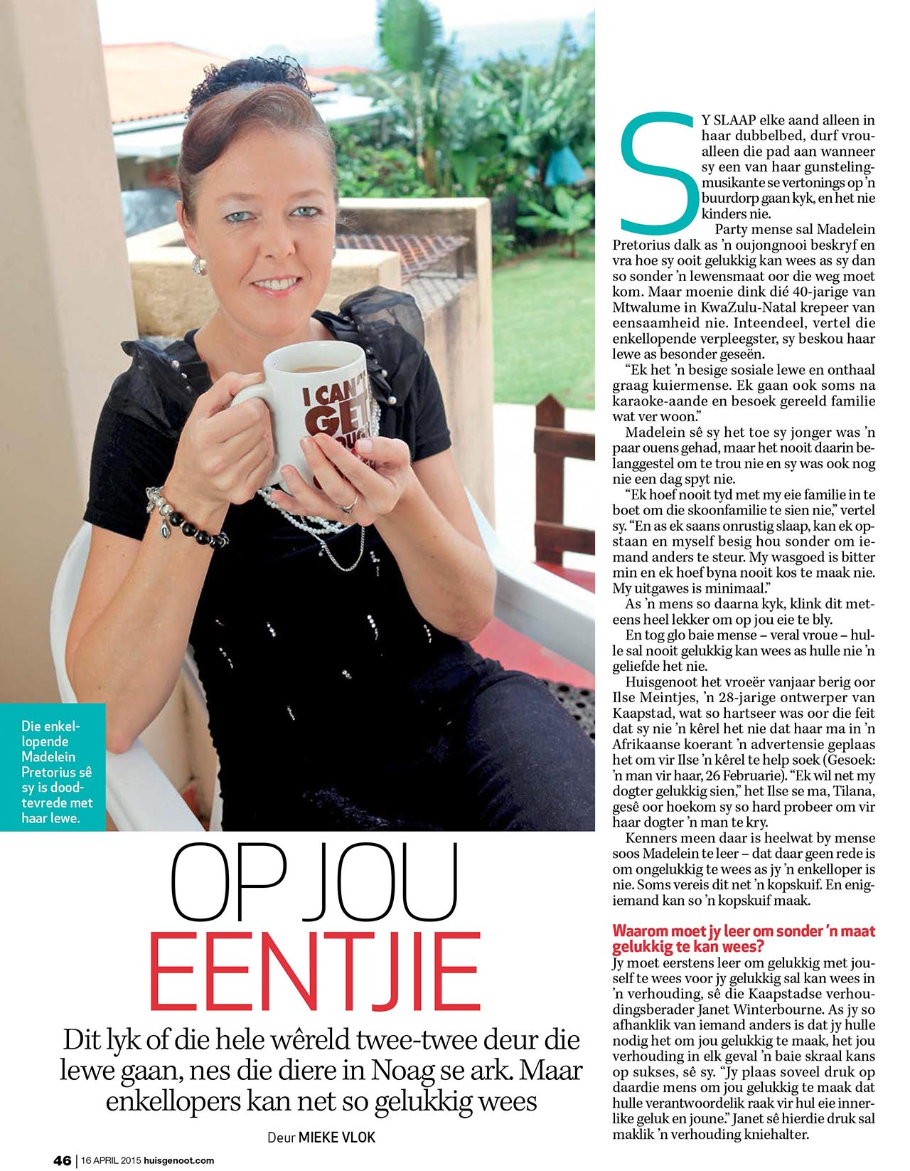 On your own huisgenoot article   Psychologist Cape Town